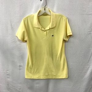 Lacoste Yellow Casual Polo Shirt  Size: 40
